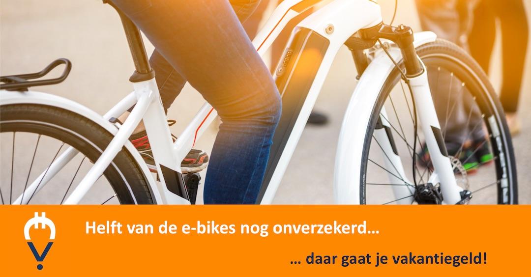 Helft van e-bikes is nog niet verzekerd
